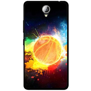 Snooky Printed Paint Globe Mobile Back Cover For Lenovo A5000 - Multicolour