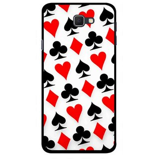 Snooky Printed Playing Cards Mobile Back Cover For Samsung Galaxy J5 Prime - Multicolour