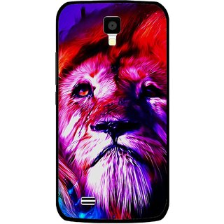 Snooky Printed Freaky Lion Mobile Back Cover For Gionee Pioneer P2S - Multicolour