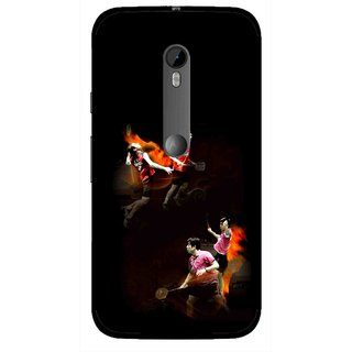 Snooky Printed Sports Player Mobile Back Cover For Moto G3 - Multi