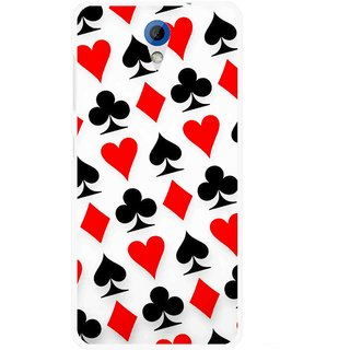 Snooky Printed Playing Cards Mobile Back Cover For HTC Desire 620 - Multicolour