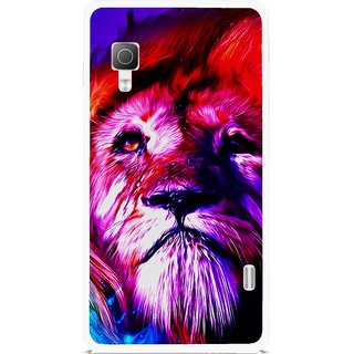 Snooky Printed Freaky Lion Mobile Back Cover For Lg Optimus L5II E455 - Multicolour
