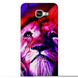 Snooky Printed Freaky Lion Mobile Back Cover For Samsung Galaxy A3 (2016) - Multicolour