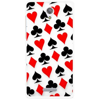 Snooky Printed Playing Cards Mobile Back Cover For Gionee Marathon M4 - Multicolour