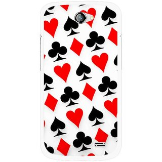 Snooky Printed Playing Cards Mobile Back Cover For Gionee Pioneer P2 - Multicolour