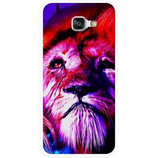 Snooky Printed Freaky Lion Mobile Back Cover For Samsung Galaxy A5 2016 - Multicolour