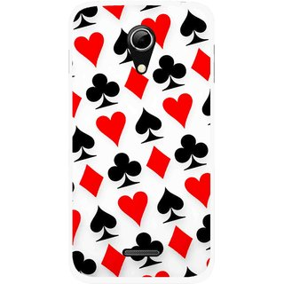 Snooky Printed Playing Cards Mobile Back Cover For Micromax A114 - Multicolour