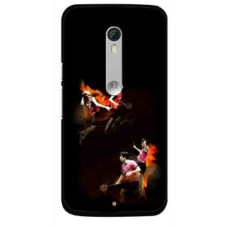 Snooky Printed Sports Player Mobile Back Cover For Motorola Moto X Style - Multi