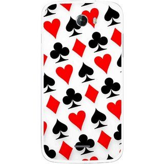 Snooky Printed Playing Cards Mobile Back Cover For Micromax Bolt A068 - Multicolour