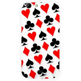 Snooky Printed Playing Cards Mobile Back Cover For Micromax Canvas 4 A210 - Multicolour