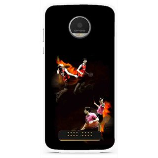 Snooky Printed Sports Player Mobile Back Cover For Moto Z Play - Multi