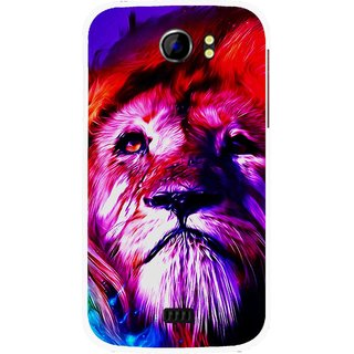 Snooky Printed Freaky Lion Mobile Back Cover For Micromax Canvas 2 A110 - Multicolour