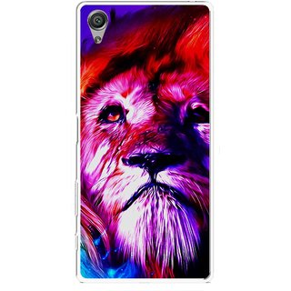 Snooky Printed Freaky Lion Mobile Back Cover For Sony Xperia X - Multicolour