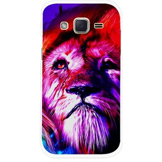 Snooky Printed Freaky Lion Mobile Back Cover For Samsung Galaxy j2 - Multicolour