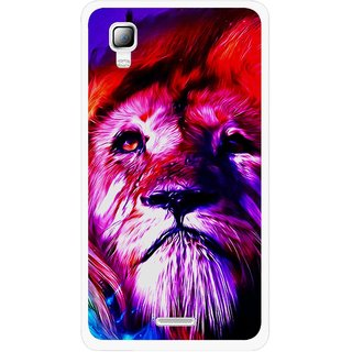 Snooky Printed Freaky Lion Mobile Back Cover For Micromax Canvas Doodle 3 A102 - Multicolour