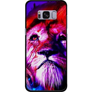 Snooky Printed Freaky Lion Mobile Back Cover For Samsung Galaxy S8 - Multicolour