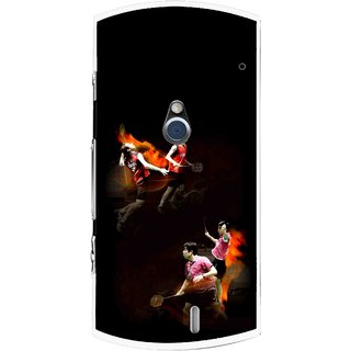 Snooky Printed Sports Player Mobile Back Cover For Sony Ericsson Xperia Neo V - Multi