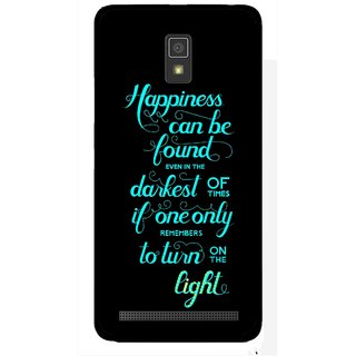 Snooky Printed Everywhere Happiness Mobile Back Cover For Lenovo A6600 - Multicolour