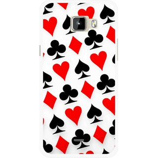 Snooky Printed Playing Cards Mobile Back Cover For Micromax Canvas Nitro A310 - Multicolour