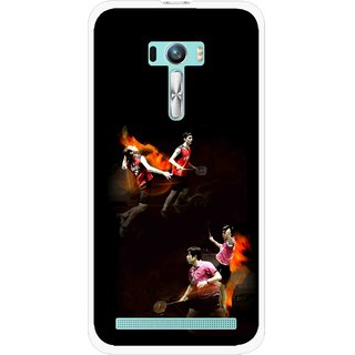 Snooky Printed Sports Player Mobile Back Cover For Asus Zenfone Selfie - Multi