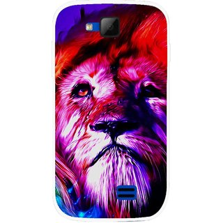 Snooky Printed Freaky Lion Mobile Back Cover For Micromax Canvas Fun A63 - Multicolour