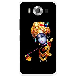 Snooky Printed God Krishna Mobile Back Cover For Microsoft Lumia 950 - Multicolour