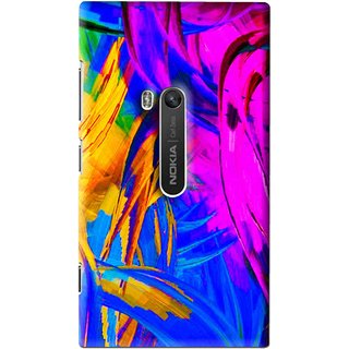 Snooky Printed Color Bushes Mobile Back Cover For Nokia Lumia 920 - Multi