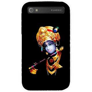 Snooky Printed God Krishna Mobile Back Cover For Blackberry Classic - Multicolour