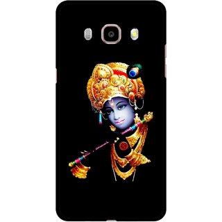 Snooky Printed God Krishna Mobile Back Cover For Samsung Galaxy J7 (2016) - Multicolour