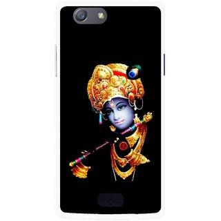 Snooky Printed God Krishna Mobile Back Cover For Oppo Neo 5 - Multicolour