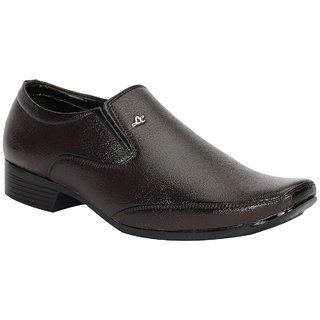 Shoes Bucket Mens Brown Formal Slip-On Shoes  SB3202
