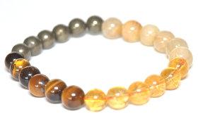 Crystal Cave Solar Plexus Chakra Bracelet 8mm Golden rutilated quartz,Citrine,Pyrite,Tigereye