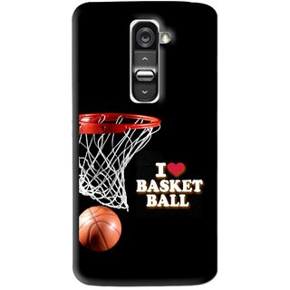 Snooky Printed Love Basket Ball Mobile Back Cover For Lg G2 Mini - Multi