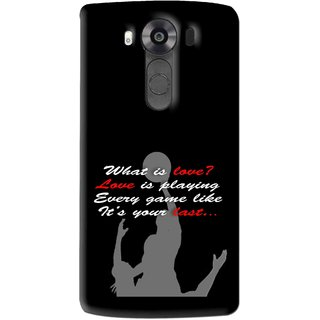 Snooky Printed Game Lover Mobile Back Cover For Lg V10 - Multi