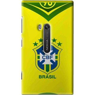 Snooky Printed Brasil Mobile Back Cover For Nokia Lumia 920 - Multi