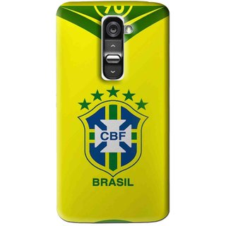Snooky Printed Brasil Mobile Back Cover For Lg G2 Mini - Multi