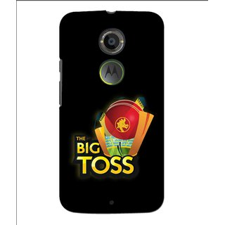 Snooky Printed Big Toss Mobile Back Cover For Moto X 2nd Gen. - Multi