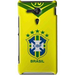 Snooky Printed Brasil Mobile Back Cover For Sony Xperia SP - Multi
