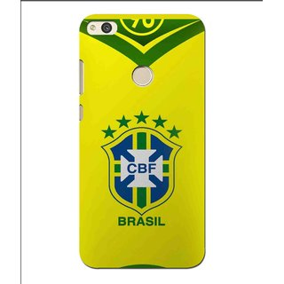 Snooky Printed Brasil Mobile Back Cover For Huawei P8 Lite (2017) - Multi