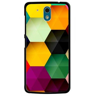 Snooky Printed Hexagon Mobile Back Cover For HTC Desire 326G - Multicolour