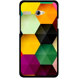 Snooky Printed Hexagon Mobile Back Cover For Intex Aqua 3G Pro - Multicolour