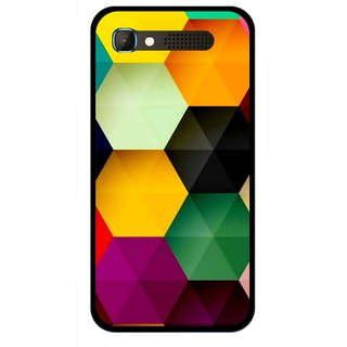 Snooky Printed Hexagon Mobile Back Cover For Intex Aqua Y2 Pro - Multicolour