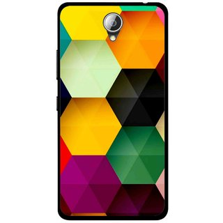 Snooky Printed Hexagon Mobile Back Cover For Lenovo A5000 - Multicolour