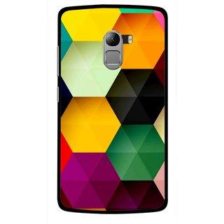 Snooky Printed Hexagon Mobile Back Cover For Lenovo K4 Note - Multicolour