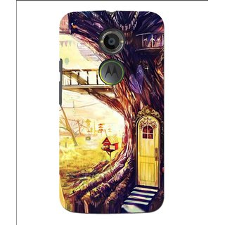 Snooky Printed Dream Home Mobile Back Cover For Moto X 2nd Gen. - Multi