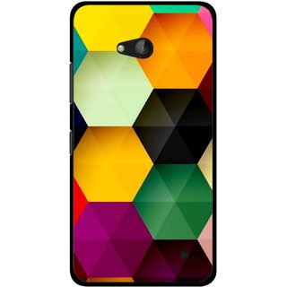 Snooky Printed Hexagon Mobile Back Cover For Nokia Lumia 640 - Multicolour