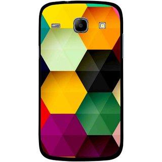 Snooky Printed Hexagon Mobile Back Cover For Samsung Galaxy Core - Multicolour