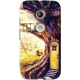 Snooky Printed Dream Home Mobile Back Cover For Motorola Moto E2 - Multi