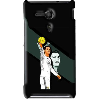Snooky Printed I Win Mobile Back Cover For Sony Xperia SP - Multi