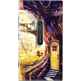 Snooky Printed Dream Home Mobile Back Cover For Nokia Lumia 920 - Multi